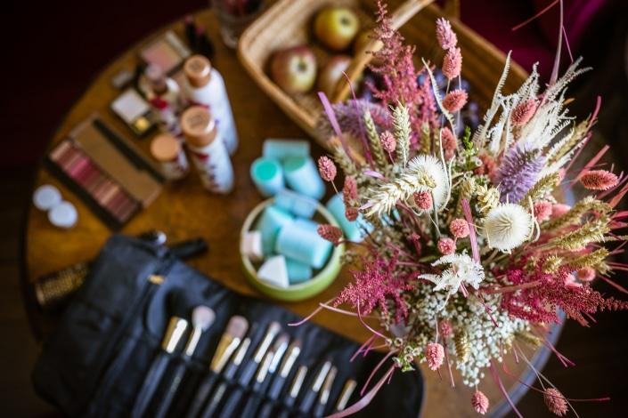 Equipment einer Brautstylistin und MakeUp-Artistin