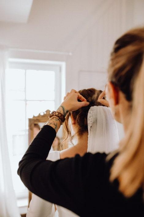 Braut, Getting Ready, Hochzeit, Styling