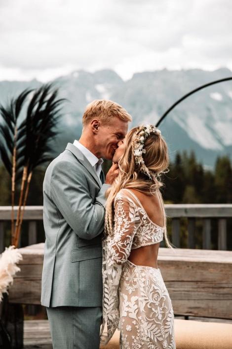 Hochzeitspaar, Vintage, Hochzeit, Natur