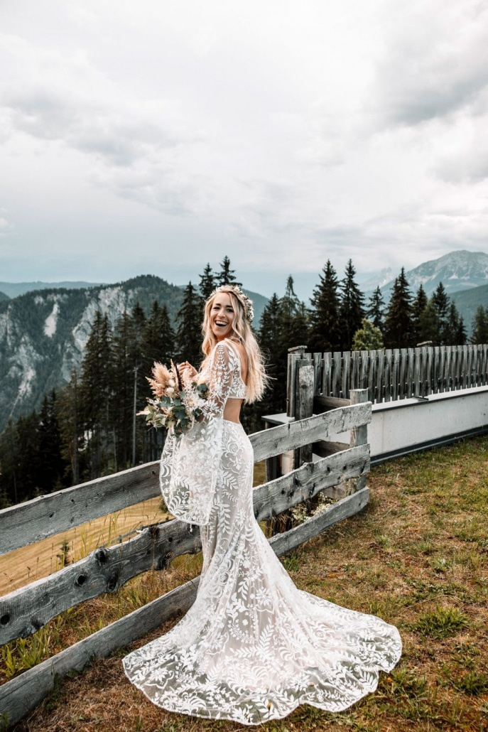 Braut, Boho, Shooting, Berge